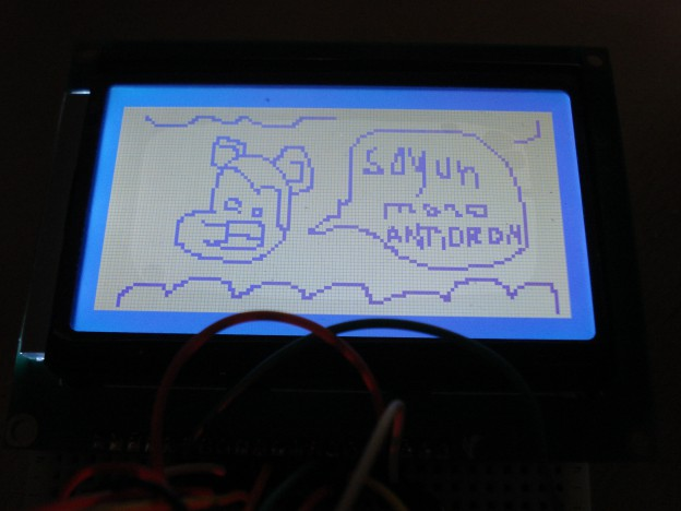 Primeras pruebas para la pantalla de la computadorita