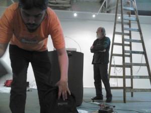 """Montaje """"Sinestasia robótica"""" - Bienal Kosice"""