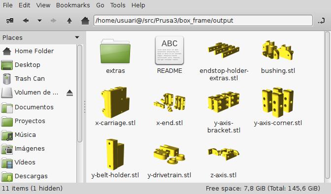 Capturas de los archivos de salida