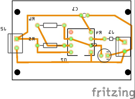 Vista del proyecto de fritzing