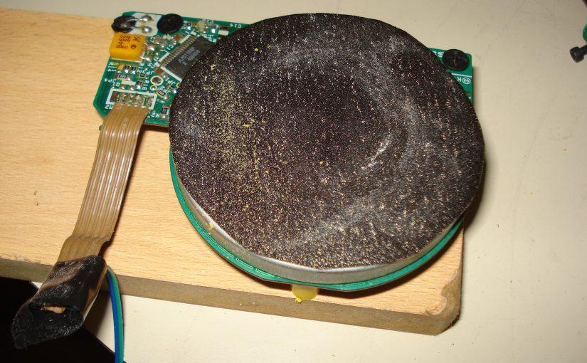 Lijadora con disco rígido viejo