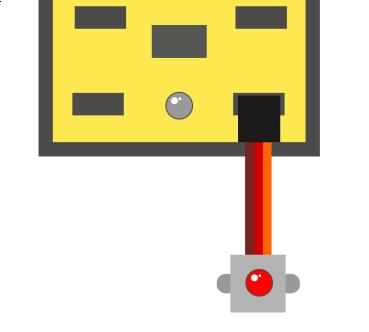 Ejemplo de LED conectada en S0